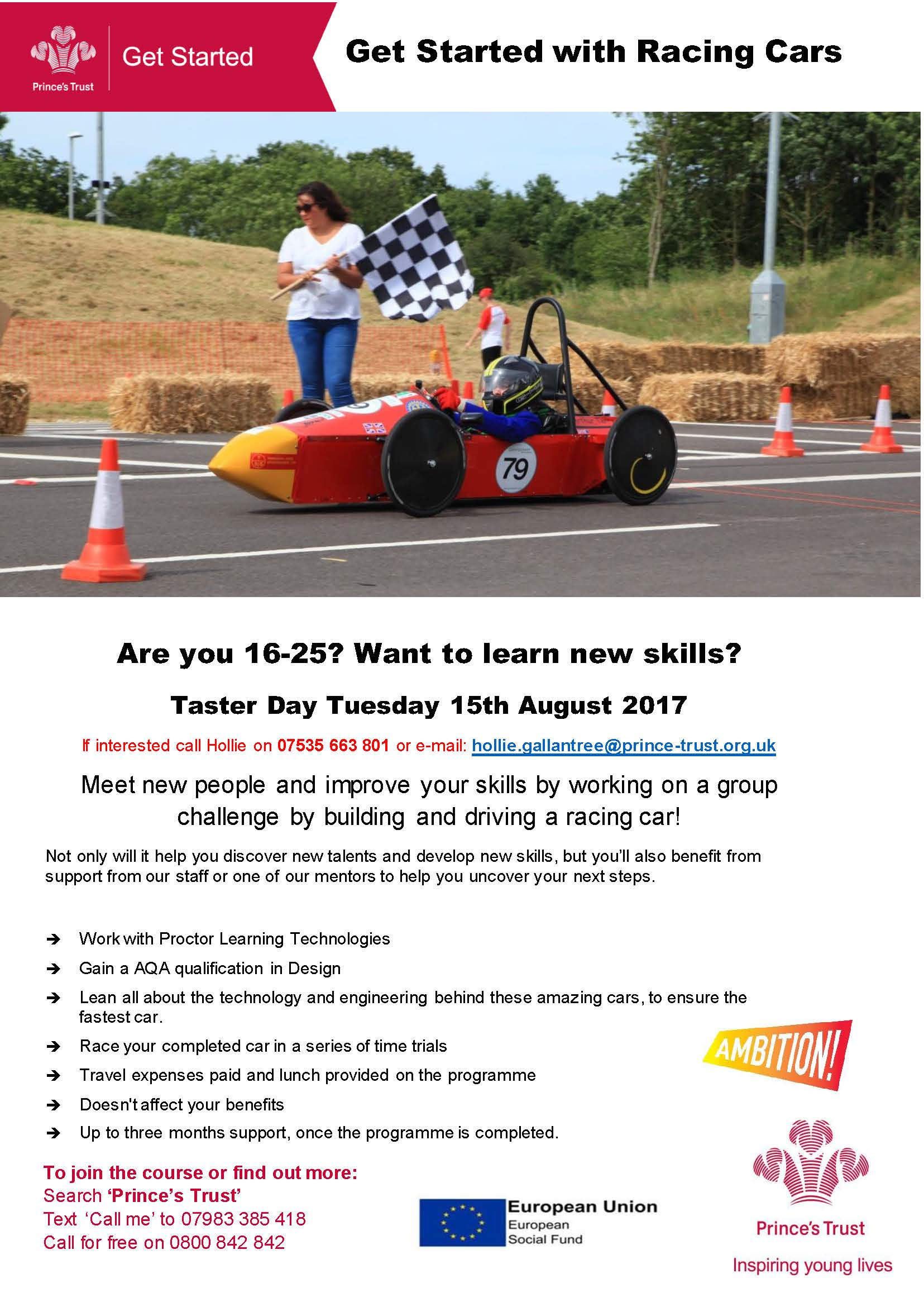 Would you like to learn how to build a Racing Car? – in Manor Farm
